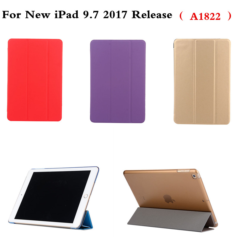 Luxury Gold PU Leather With Colorful Plasic Back Case Cover For New iPad 9.7 inch 2017 Release A1822 Cases Smart Tablet Cover image kiosk 2d qr 1d koisk embedded scanner module ep2000 free shipping usb2 0 rs232 interface usb