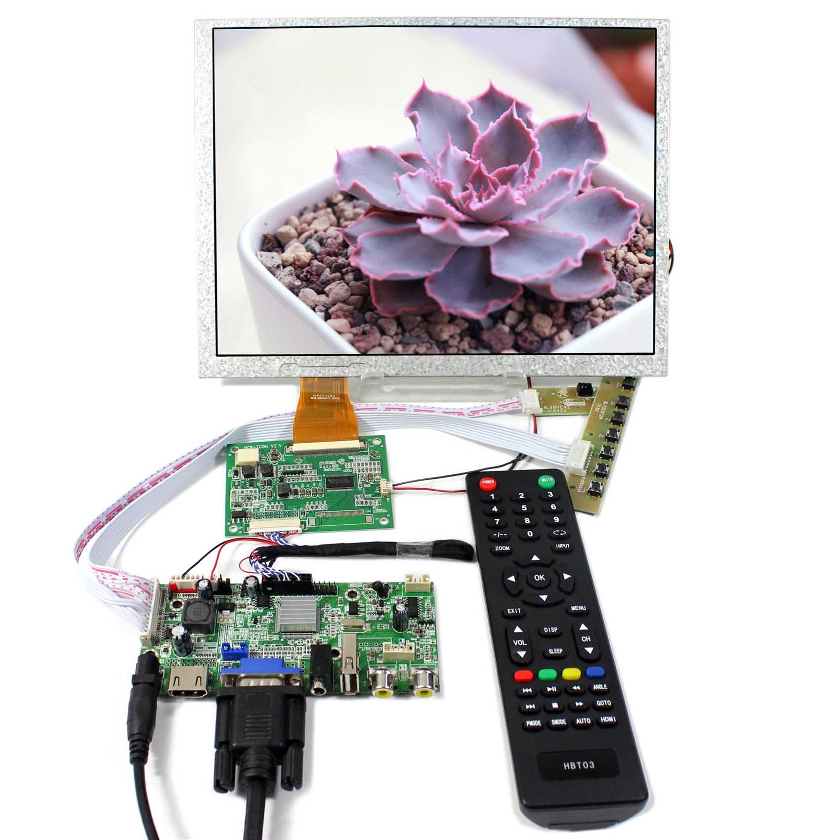 HDMI+VGA+AV+Audio+USB LCD Controller board With 10.4inch 800X600 A104SN03-V1 LCD ScreenHDMI+VGA+AV+Audio+USB LCD Controller board With 10.4inch 800X600 A104SN03-V1 LCD Screen