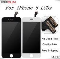 10 قطعة/الوحدة جودة aaa الصف 4.7 بوصة ecran ل iphone 6 6 جرام lcd عرض pantalla استبدال عدسة الشاشة مع لمس محول الأرقام