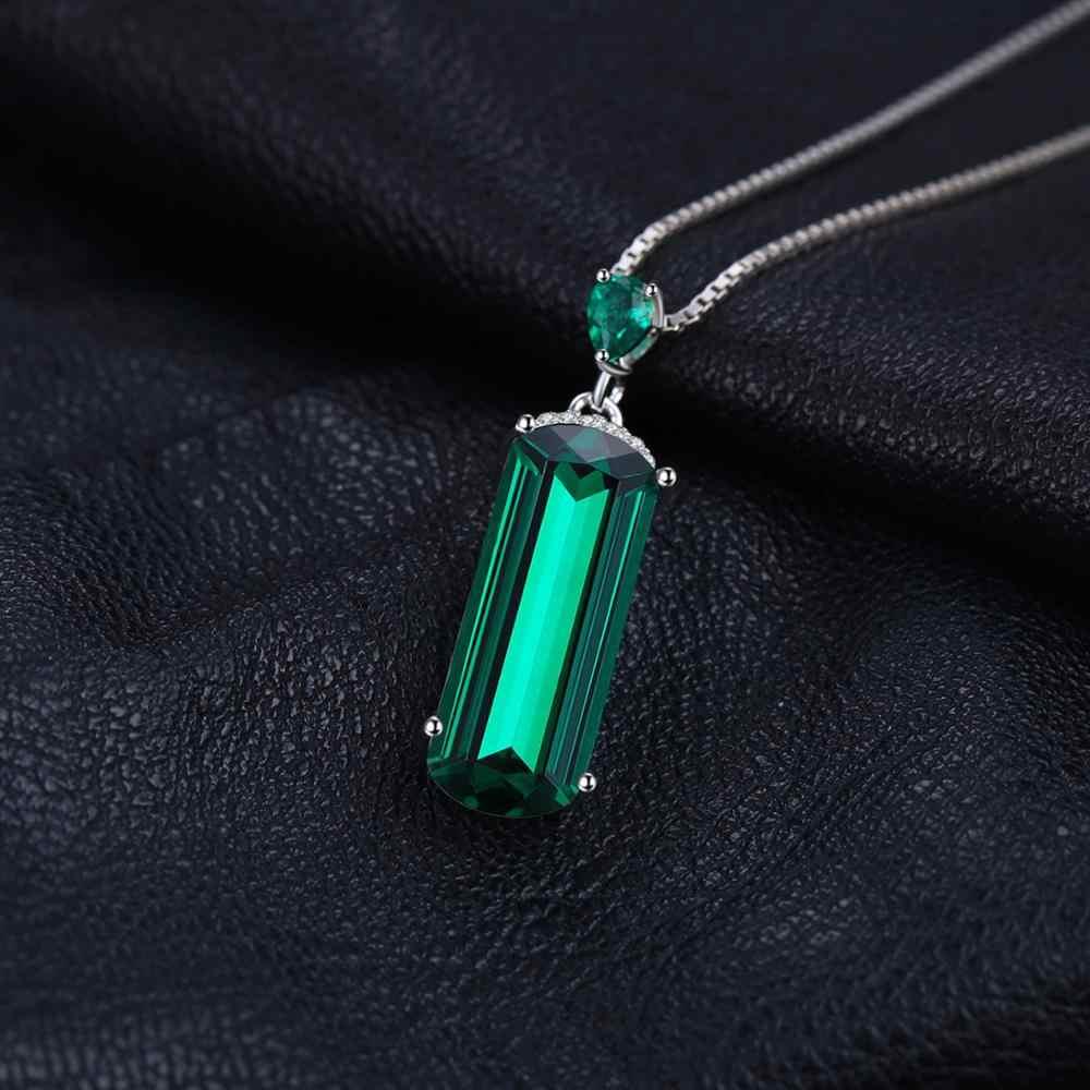 Jpalace simulé Nano émeraude pendentif collier 925 pierres précieuses en argent Sterling collier ras du cou femmes sans chaîne