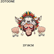 ZOTOONE Punk Monkey Patch Jeans Iron On Transfer Indian Letter Patches For Clothes T-shirt Stickers DIY Appliqued Heat Press D 5h high carbon fiber telescopic fishing rod ultra light carp fishing rod surf spinning rod stream sea pesca fishing rod zg 100