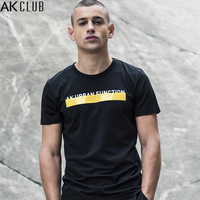 AK CLUB Brand T Shirt Silica Gel Letter Print Tshirt Short Sleeve Crew Neck T Shirt