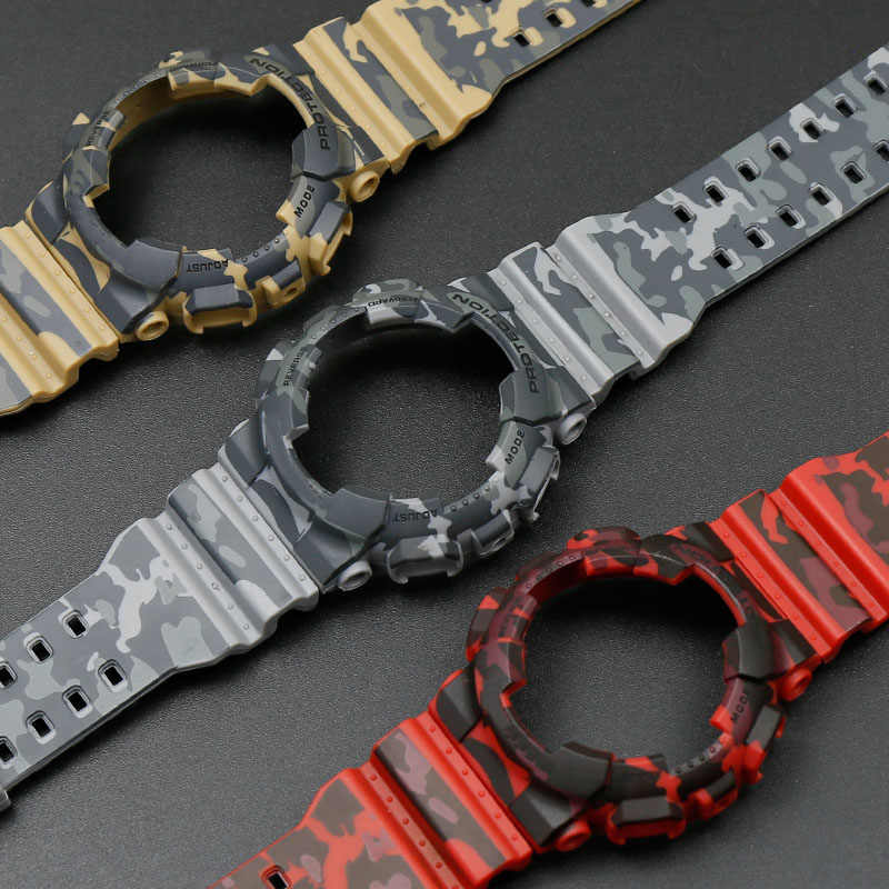 Camouflage Resin Strap Case Men For Casio G Shock Ga 110 Ga 100 Gd 120 5146 5081 Watch Accessories