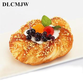 1 sztuk sztuczna żywność squishy chleb model symulacyjny owoce miękki chleb fałszywe ciasto piekarnia fotografia rekwizyty wystrój owoców miękki chleb tanie i dobre opinie DLCMJW 1 pc 12 5*8 5*6cm 10*10*6cm