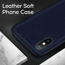 IIOZO Luxus PU leder Fall Für iPhone XS Max XR X 7 8 Plus 6 6s Ultra-dünne leder Textur Weichen Silikon Phone Cases Abdeckung(China)
