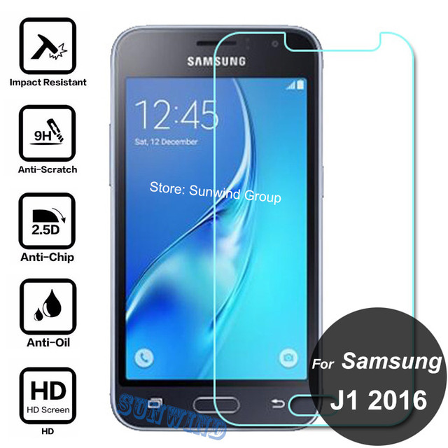samsung j1. for samsung galaxy j1 2016 tempered glass screen protector 2.5d 9h protective film on sm