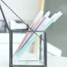 6Pcs/Set gel pen cute kawaii 0.5mm glitter tinta kalem white papelaria criativa penne colorate canetas colorida bolis de colores