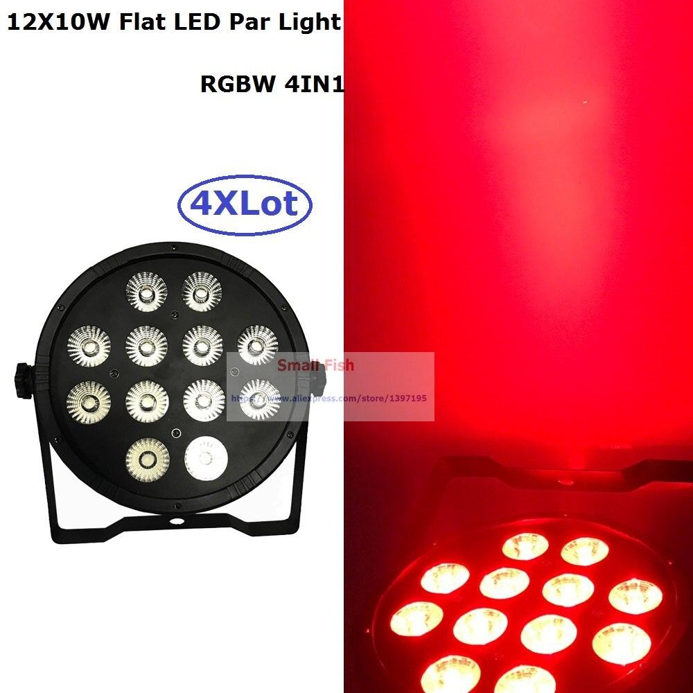ФОТО Good Price 4Pcs/Lot Led Par Light Quad Color 12X10W 4IN1 RGBW Beam Wash Dmx Par Light For Party Wedding Events Lighting