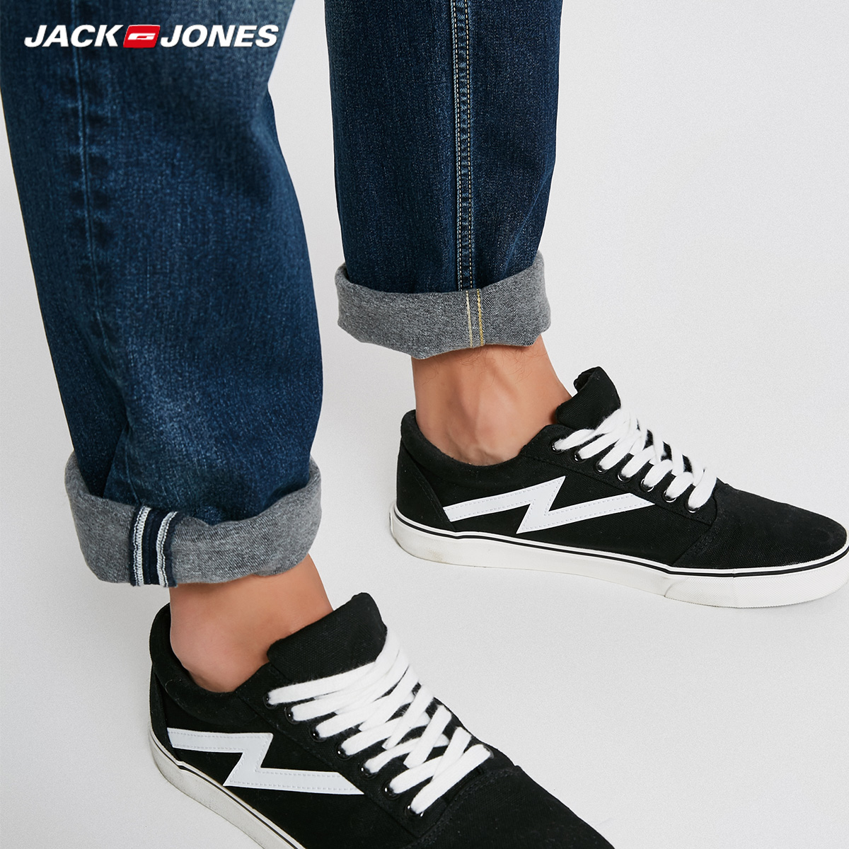Image 4 - Jack Jones Men Jeans Brand Thick Warm Cotton Solid Straight Jeans Denim Trousers Mens Biker Jeans  218432505-in Jeans from Men's Clothing