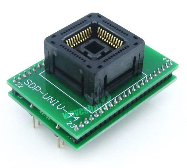 Demo Board & Accessories United Plcc44 To Dip44 Programmer Adapter Yamaichi Ic Programmer Adapter For Plcc44 Package With Socket Ic120-0444-306 1.27mm Pitch Lustrous