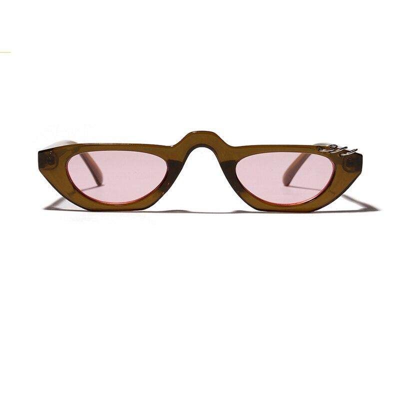 MINAKOLIFE Small Square Frame Cat Eye Punk Sunglasses Sun glasses Retro Vintage Sun glasses oculos de sol