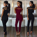 2017 Womens Choker High Neck Caged Sleeve Playsuit Ladies Jumpsuit Size 6 - 14