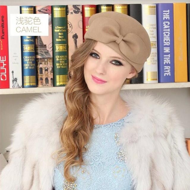 Vintage Warm Wool Beret Beanie Hat
