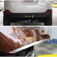 Stainless Steel Rear Trunk Boot Tailgate Lid Cover Trim 1 Pcs For Toyota RAV4 RAV 4 2013 2015