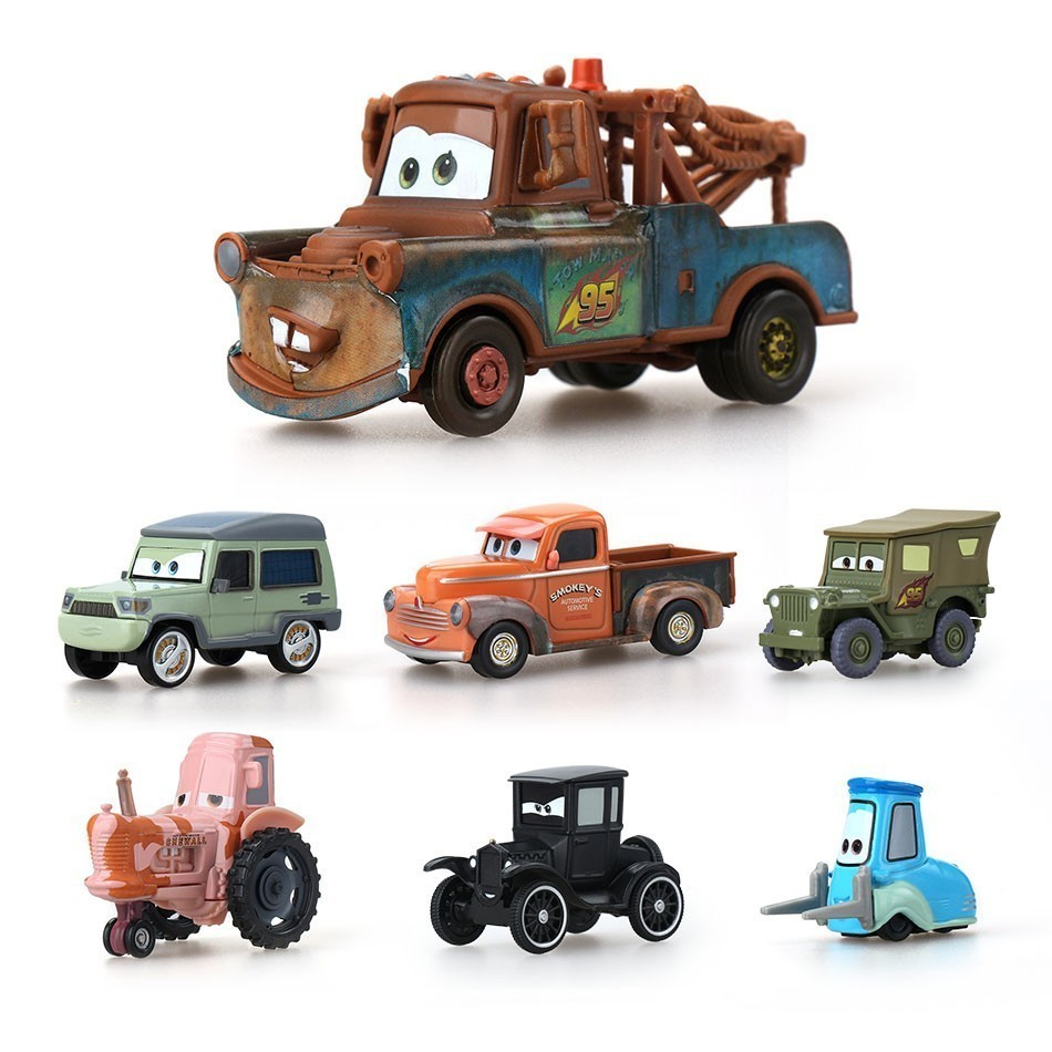 Disney Pixar Cars 2 3 Lightning Mcqueen Mater Jackson Storm Ramirez 1:55 Diecast Vehicle Metal Alloy Boy Toys For Children Gift