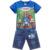 Verão meninos roupas de algodão de manga curta. Crianças meninos e roupas de algodão criança crianças dos desenhos animados