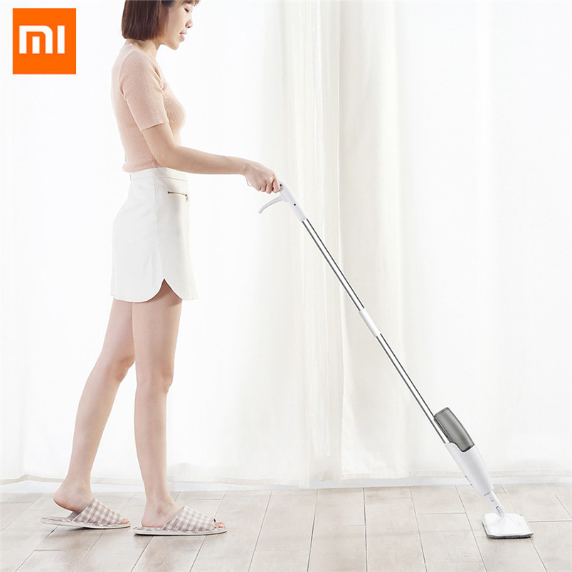 Original Xiaomi Deerma Water Spraying Sweeper Mijia Floor Cleaner Carbon  Fiber Dust Mops 360