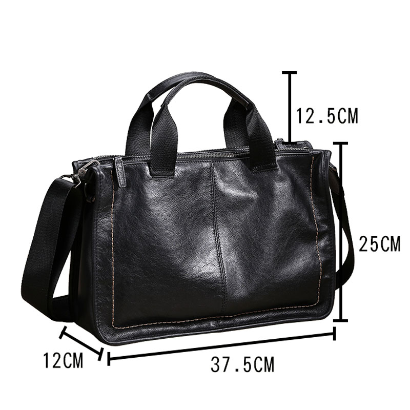 Image 5 - AETOO Leather handbag men's soft leather diagonal bag casual men's first layer leather shoulder briefcase-in Briefcases from Luggage & Bags