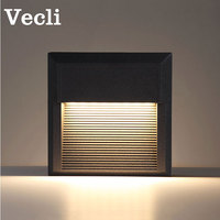 Outdoor waterproof step light LED foot lighting fixtures villa landscape garden corner lamp modern aisle wall sconce