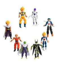 Anime Dragon Ball Z 8PCS/SET Freeza Piccolo Vegeta Trunks Son Gohan Kuririn Movable PVC Action Figures Collection Model Toys