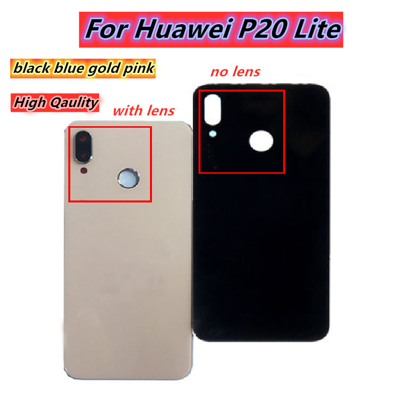 Back Glass Door Housing case For <font><b>Huawei</b></font> <font><b>P20</b></font> Lite <font><b>Battery</b></font> <font><b>Cover</b></font> Rear Panel With Camera Lens For <font><b>Huawei</b></font> <font><b>P20</b></font> Lite <font><b>Battery</b></font> <font><b>Cover</b></font> image