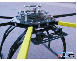 ATG 700-X6-AL 2814 Folding Frame Hexa Multicopter w/ Dual Carbon Motor Mounting Plate atg 700 x6 al 2212 2216 folding carbon fiber frame hexa multicopter w dual motor mounting plate