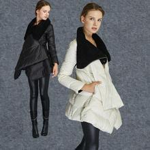 2016 новый зимний плащ стиль 90% утка пуховик модный женский высоким воротником пальто перо наполнителя пальто w1236