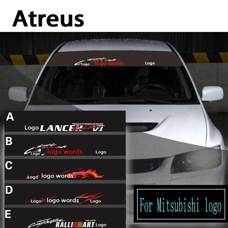 Atreus 1X logo del coche ventana frontal parabrisas pegatinas reflectantes para Mitsubishi ASX Lancer 10 9 Outlander Pajero Accesorios