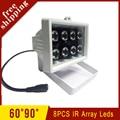 Surveillance Cameras Outdoor Waterproof 8pcs 42mil Array led infrared Light Night Vision IR illuminator Lamp Free Shipping