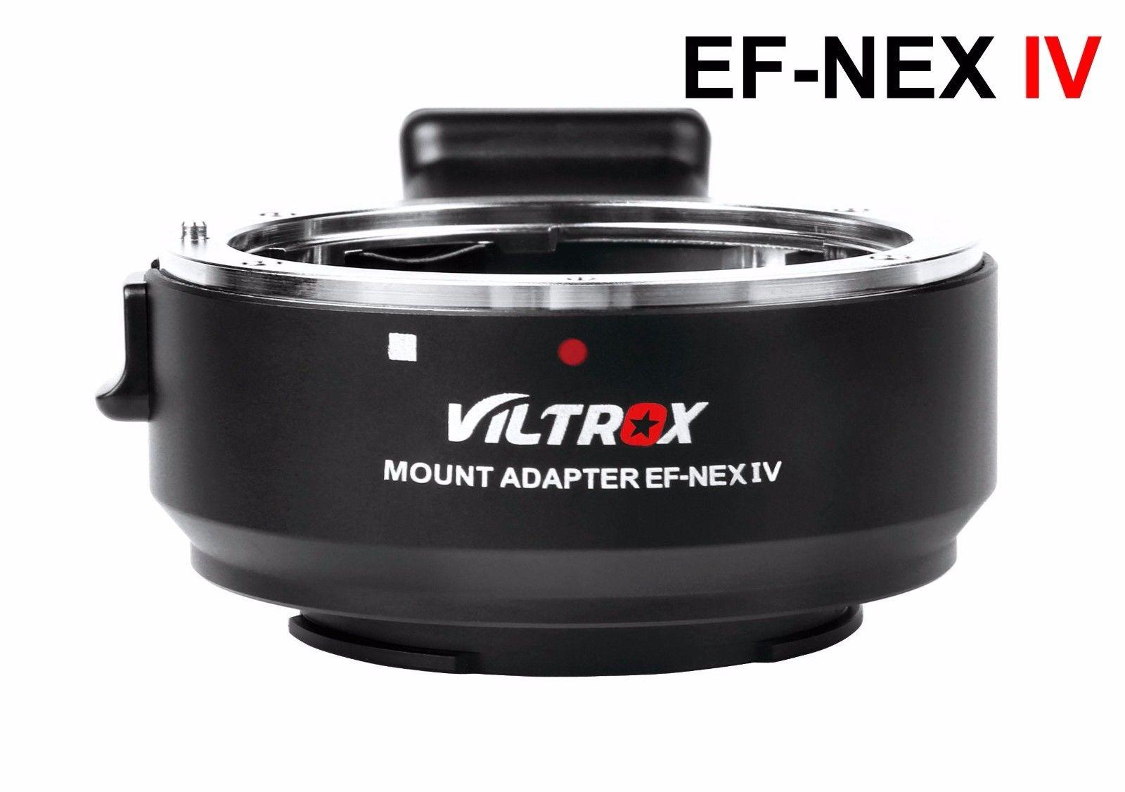 Adaptateur d'objectif de mise au point automatique Viltrox EF-NEX IV pour objectif Canon EOS EF EF-S à Sony E NEX plein cadre A9 A7 A7II A7RII A7SII A6500 A6300