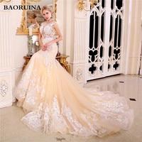2018 New Arrival Vestido De Noiva Robe De Mariage Bridal Dress Mermaid Trumpet Chiffon Wedding Dresses Plus Size SDY 9537