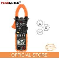 PEAKMETER PM2008A Digital Clamp Meters Auto Range Clamp Meter Ammeter Voltmeter Ohmmeter w/ LCD Backlight Current Voltage Tester