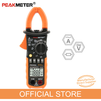 PEAKMETER PM2008A Digital Clamp Meters Auto Range Clamp Meter Ammeter Voltmeter Ohmmeter w/ LCD Backlight Current Voltage Tester