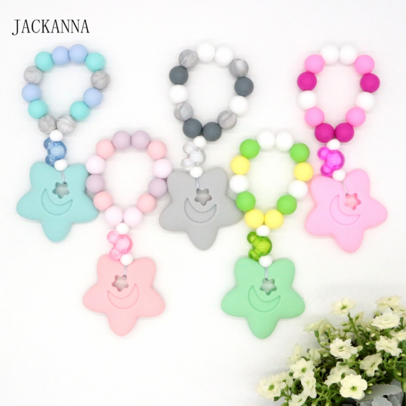 Kawaii Silicone Fish Teether Baby Pacifier Chew Toy Pendant Molar Gum Beads Hot