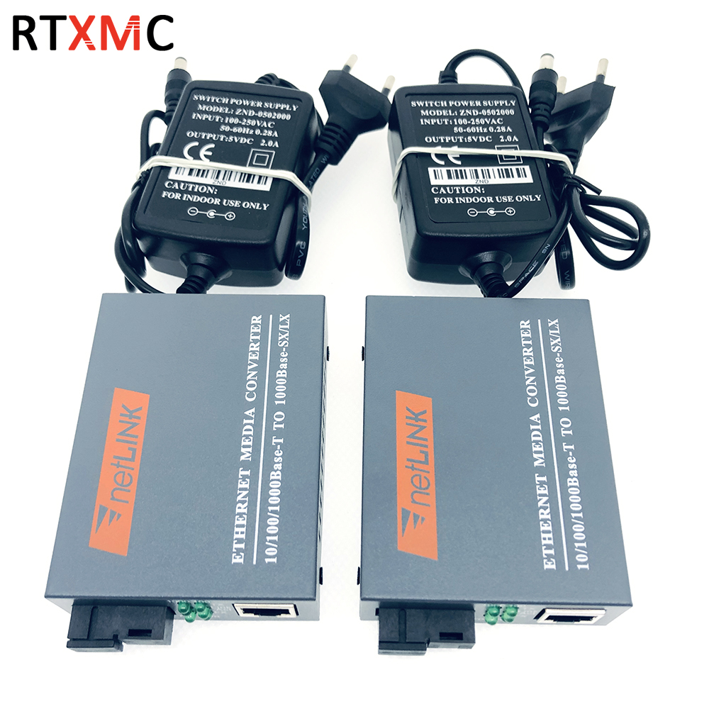 Optical-Media-Converter Gigabit-Fiber Single-Mode Power-Supply Sc-Port External 10/100/1000mbps
