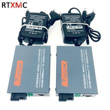 Optical-Media-Converter Power-Supply Sc-Port Gigabit-Fiber External Single-Mode 10/100/1000mbps