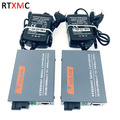 HTB-GS 1 пары гигабитный волоконно-оптический медиаконвертер 10/100/1000 Мбит/с одномодовый одиночный волоконный SC порт 20 км внешний источник питан...