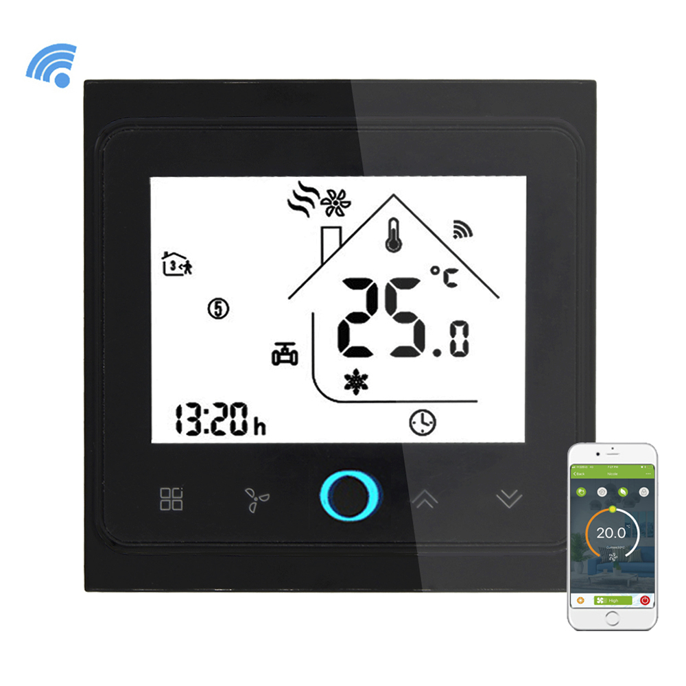 Wifi Air Conditioner Temperature Controller Smart WIFI Thermostat Programmable Temperature Controller with LCD Display 4 Pipe