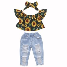 3Pcs/set Kids Baby Girls Clothes Outfits 1-5Y