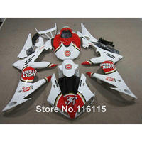 hot sale ABS fairing kit for YAMAHA R6 2008 2014 white red LUCKY STRIKE fairings set YZF R6 08 14 #2176 Full injection
