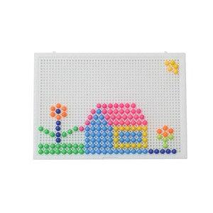 Image 4 - Heißer Verkauf 320 Pcs Mosaik Peg Board Puzzle Pilz Nägel Peg Puzzles Pädagogisches Spielzeug für Kinder