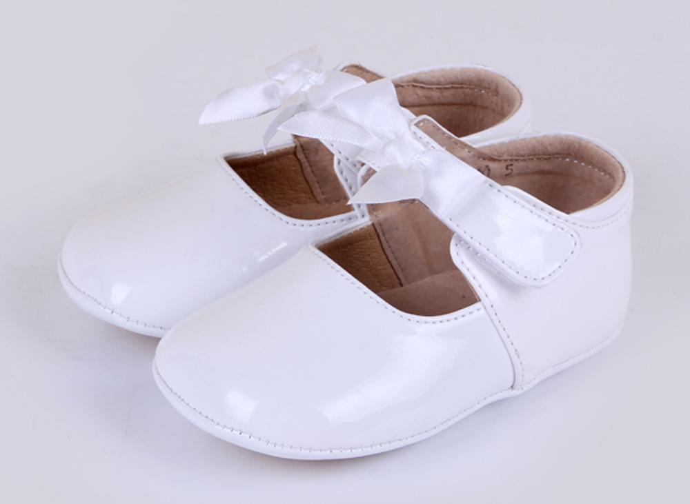 Online Shop Hot! baby girl shoes white ivory genuine leather ...