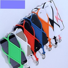 Universal Silicone Cell Phone Lanyard Holder Case Cover Phone Neck Str