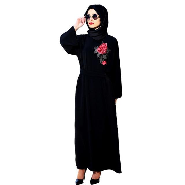 2017 bordado vestidos islámicos dubai islámica musulmanes kaftan ...