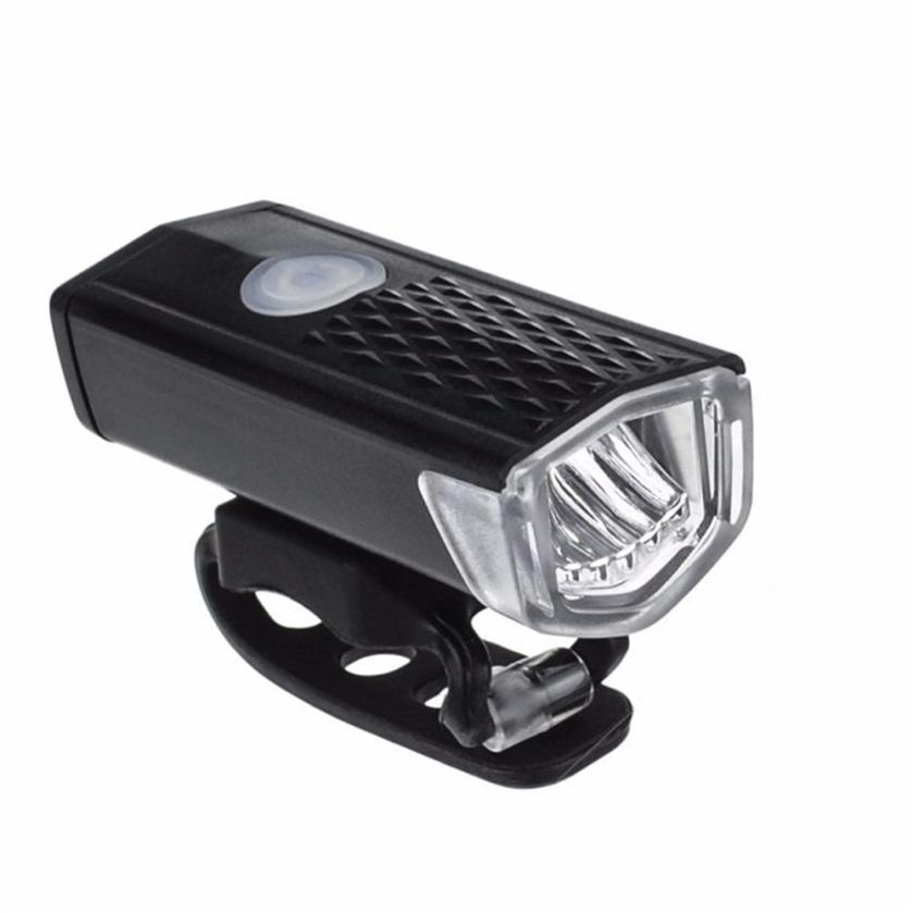 2018 NEW PC+ABS USB Bicycle Head Light Bicycle 800mAh Cycling Front Light Head lihgt 300lm Lamp Torch AP0803