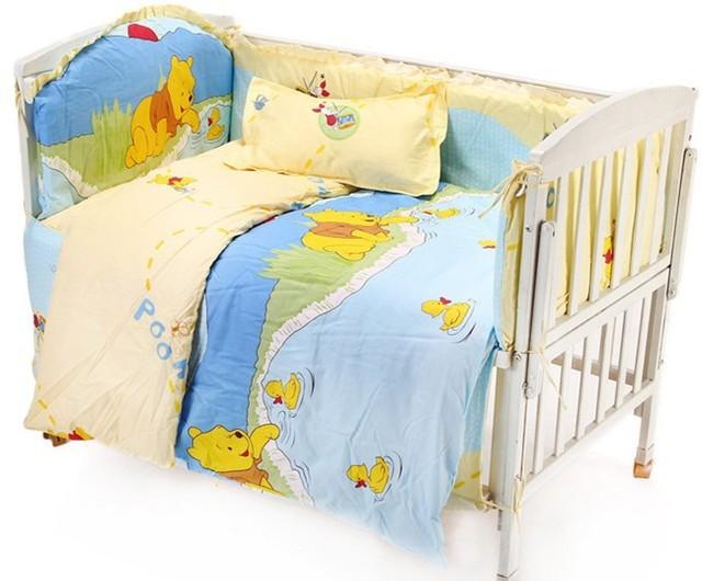 Promoção! 6 / 7 PCS jogo de cama berço de bebê de, 120 * 60 / 120 * 70 cm