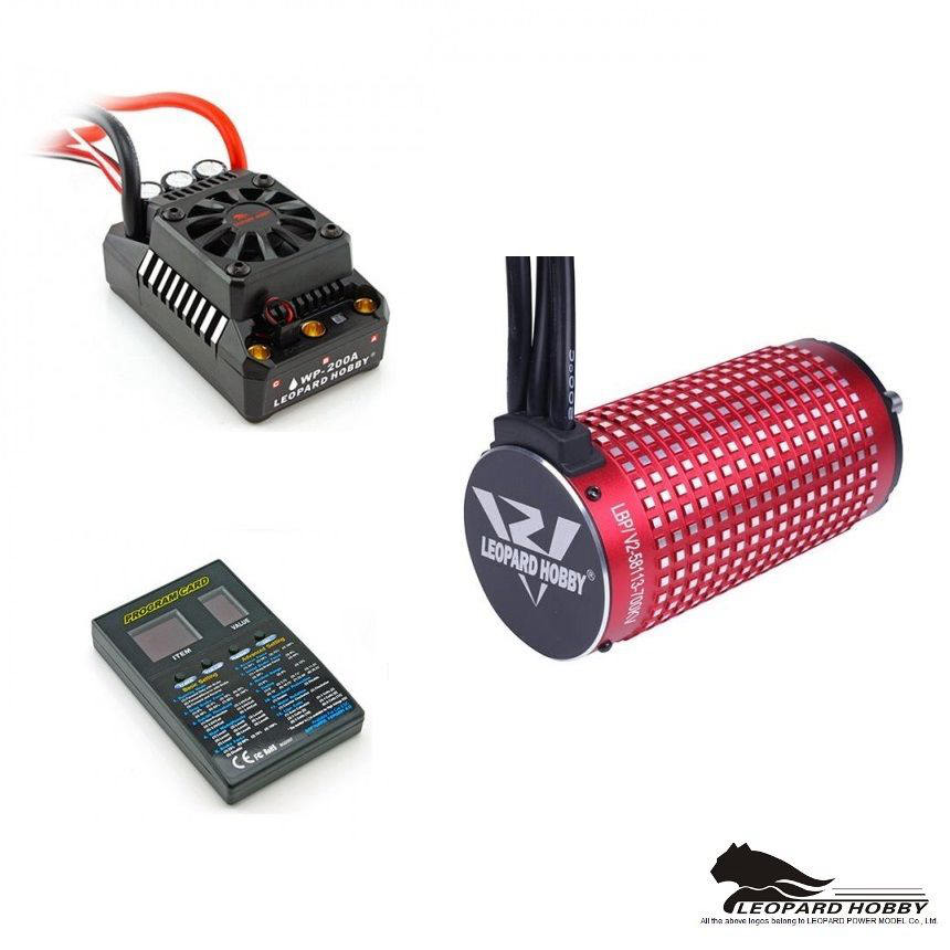 FATJAY RC Leopard Hobby 58113 brushless motor ESC 200A waterproof MAX5 combo for 1 5 cars