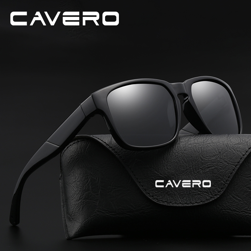 Cavero Brand Classic Polarized Sunglasses Men Driving Square Zwart - Kledingaccessoires - Foto 2