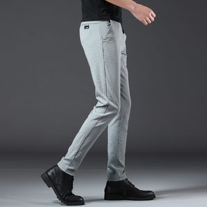 Image 5 - Jantour 2020 ファッション男性パンツスリムフィット春夏高品質ビジネスフラット全身薄型カジュアルズボン男性