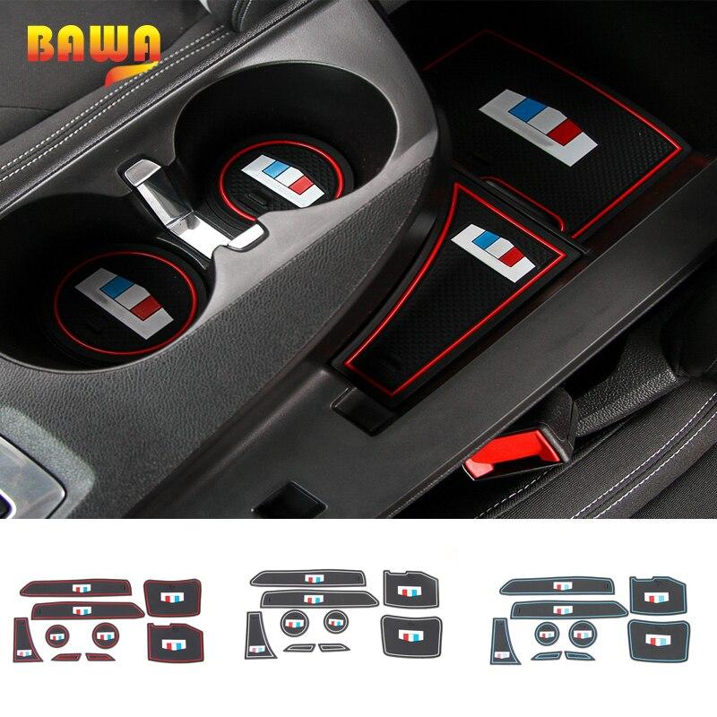 HANGUP Rubber Car Interior Non-Slip Mat Gate Slot Pad Mat Cup Mat Decoration For Chevrolet Camaro 17 Up Car Styling